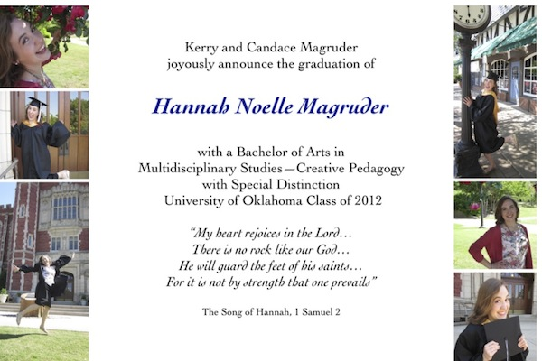 Hannah graduates today!
