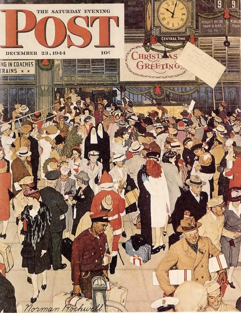 Norman Rockwell, Union Station, Christmas 1944
