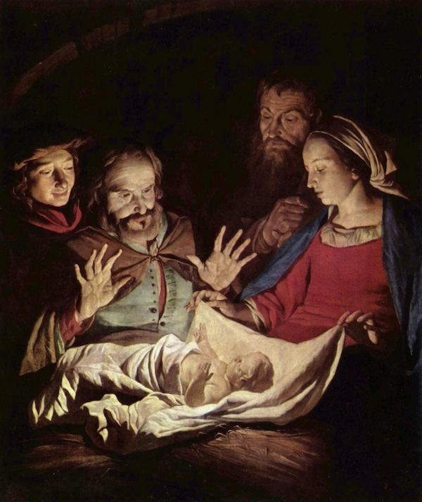 Adoration of the Shepherds, by Matthias Stomer