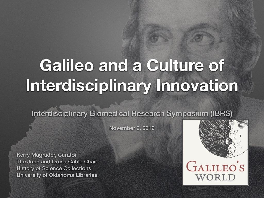 Galileo and a Culture of Interdisciplinary Innovation